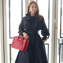 Fashion women comfortable long loose coat new arrival high quality temperament vintage thick holiday