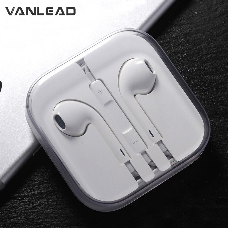 3.5mm Stereo Bass Earphone With Microphone Wired Gaming Headset For Mobile Phone Apple Iphone IPhone 6 6S Plus 5S 5 SE 4