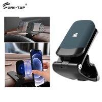 Sumi-soporte magnético de teléfono de coche, montaje Universal con Clip Hud para ventilación, GPS, soportes para teléfono móvil, soporte magnético