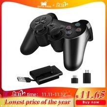 Dữ Liệu Ếch 2.4G Tay Game Không Dây Cho PS3/PS2 Cần Điều Khiển Chơi Game Tay Cầm Chơi Game Cho PC Vibration Joypad Bộ Điều Khiển Trò Chơi Cho Android điện Thoại Thông Minh/TV Box