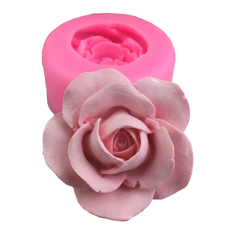 DIY 3D Rose Flower Silicone Soap Mold Fondant Cake Mold Plaster Aromatherapy Handmade  Drop Glue Mold