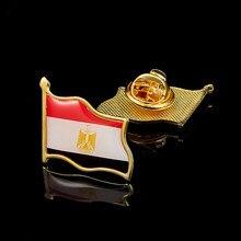 Broche de insignia de Egipto chapado en oro, pines coleccionables de solapa de banderas, ropa, corbata, sombreros, gorras, bolsos, mochilas