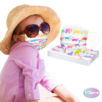 10PC  In Stock KIDs Disposablel Fashion Outdoor Sunscreen Cloth 3ply Ear Loop Bike Outdoor Visors double layer protection*81