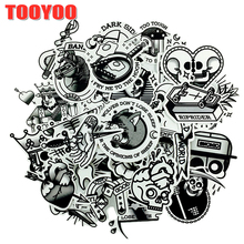 29Pcs set Black And White Series Cartoon Horror Stickers For DIY TOY Scrapbook Bicycle Skateboard Snowboard Laptop Luggage cheap TOOYOO 1 2in(3CM)-3 9 in(10CM) Toy stickers 0325 Christmas Halloween Birthday Valentine s Day  Waterproof PVC Leave trace instagram anime stickers children kpop