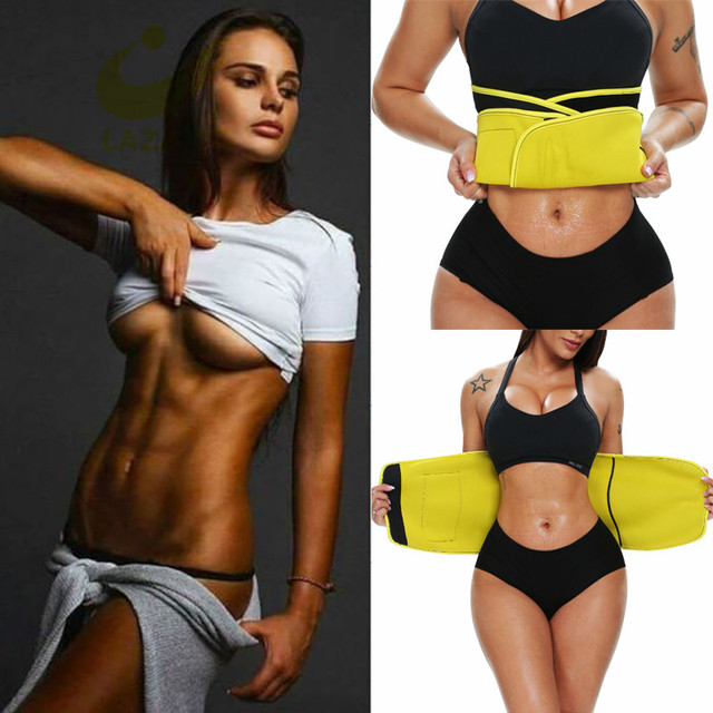 LAZAWG Waist Trimmer Belt Waist Eraser Sauna Sweat Band Waist Trainer for Weight Loss Slimming Body Shaper Sports Girdle Workout 3