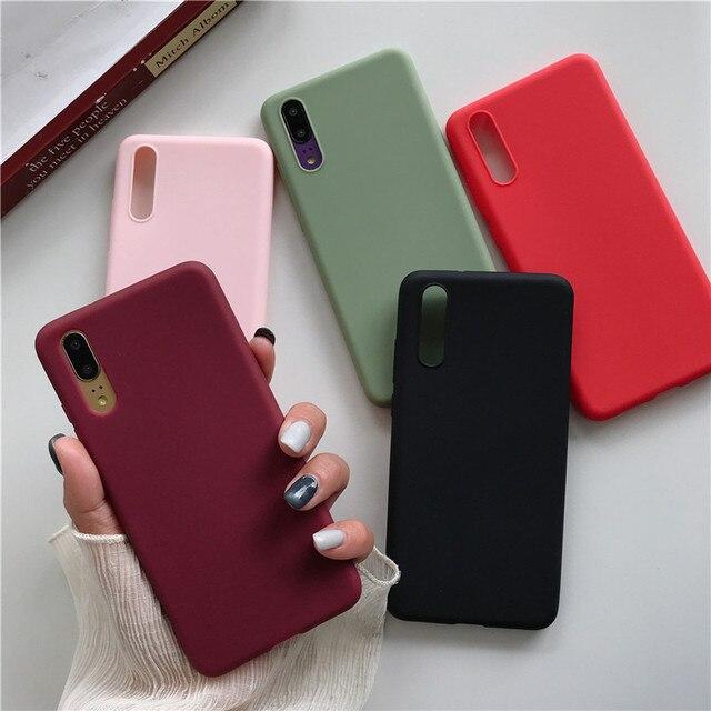 Xiaomi Redmi 7 Case Redmi7 Cover Soft Silicon Phone Case For Xiaomi Redmi 7 7A Note 7 Color Soft Silicone Case Redmi Note 7 Pro