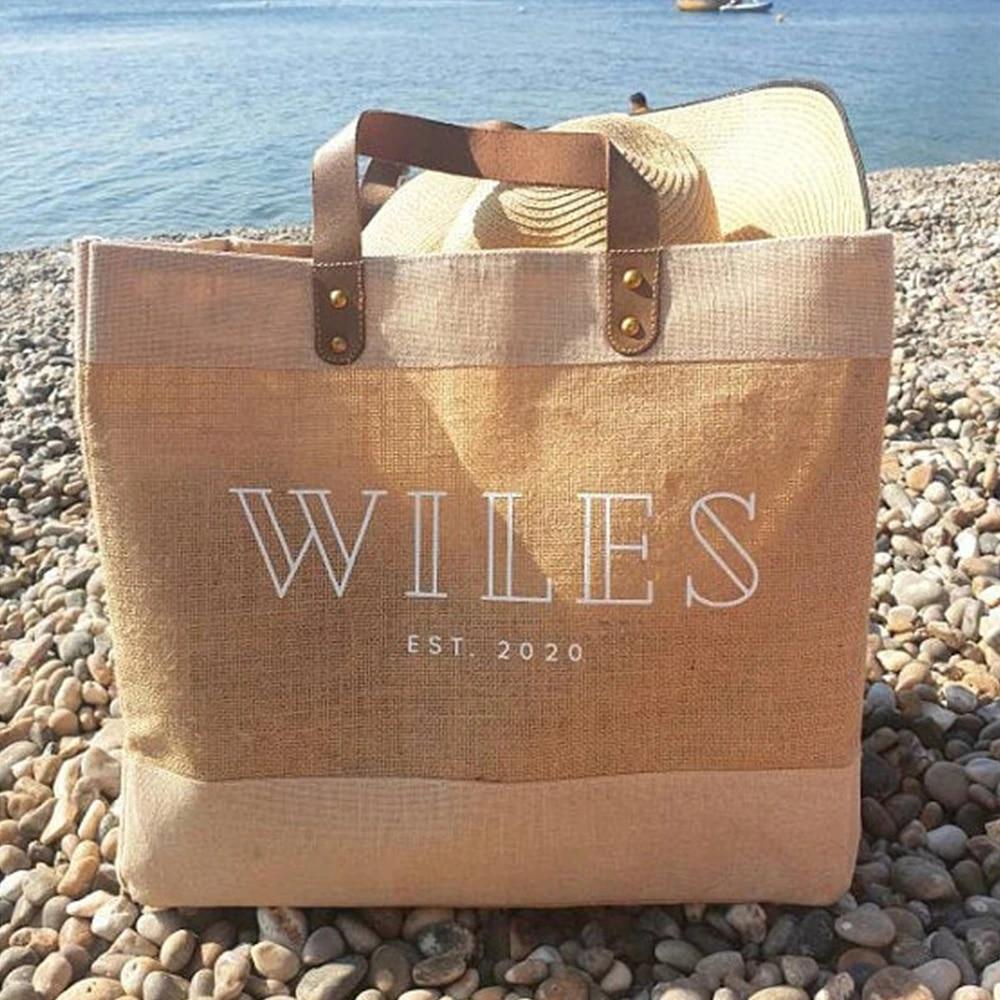 Personalized women beach bag,shopping bag tote bag.