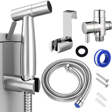 Bidet Sprayer Set for Toilet Handheld Cloth Diaper Sprayer Bathroom Sprayer Kit Spray Attachment with Hose baby cloth diaper sprayer system with copper inside attached in the toilet high speed water easy to wash soiled cloth diaper