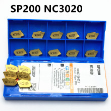 100 pieces SP200 NC3020 high quality grooving carbide insert lathe tool turning cutting and CNC