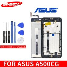 Sinbeda For ASUS Zenfone 5 T00J A500KL A500CG A501CG LCD Display Touch Screen Digitizer with frame Assembly Replacement parts original cell phone lcd display touch screen digitizer assembly for asus zenfone 5 a500cg a501cg t00j t00f 5 0 lcd tools