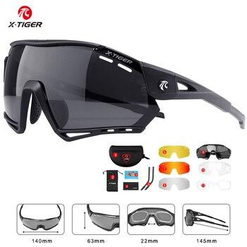 X-tiger ciclismo óculos polarizados esportes ciclismo óculos de sol de bicicleta de montanha mtb proteção ciclismo óculos de proteção 1