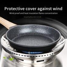 Аксессуары для кухни, ветрозащитная Крышка для газовой плиты из нержавеющей стали, энергосберегающая универсальная Скоба для дома