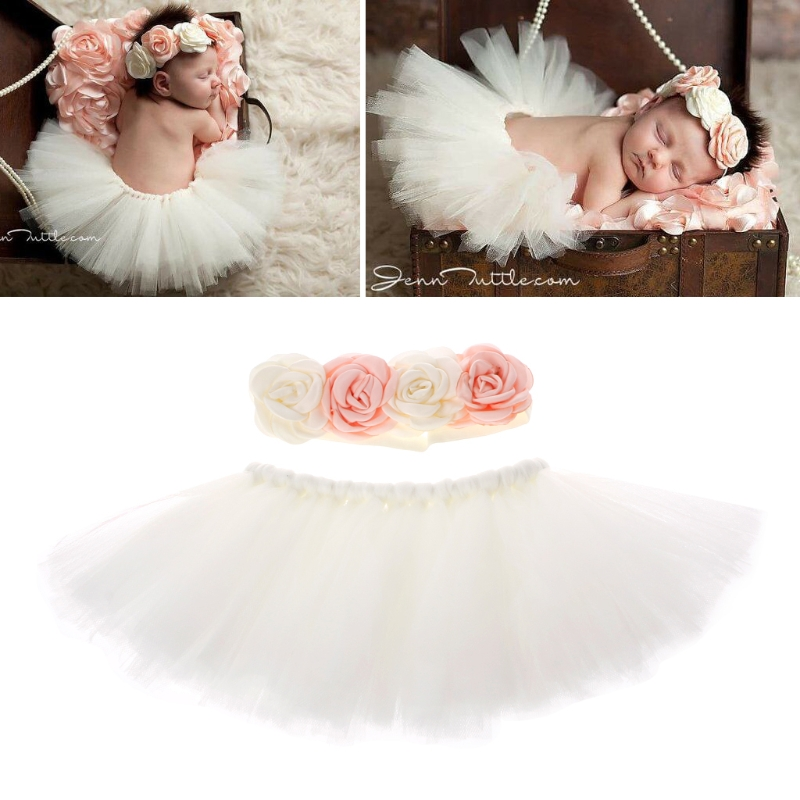 Newborn Photography Props Infant Costume Outfit Princess Baby Tutu Skirt