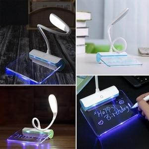 Image 5 - Lampe de bureau, Rechargeable par USB, 3 modes, interrupteur, avec panneau de Message, Protection des yeux, nouveauté LED messages