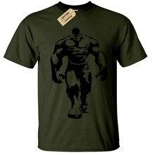 Hulk Herren T-Shirt Kühlen Fitnessstudio Bodybuilding Training Top Heben Fitness Männer Marke Gedruckt 100% Baumwolle T Shirt