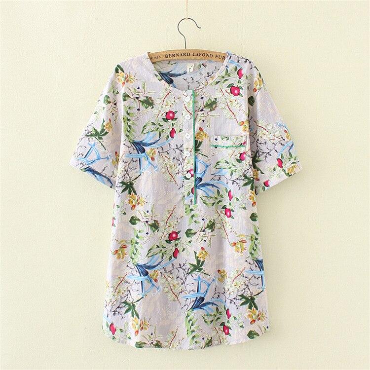 T-shirt imprimé décontracté grande taille femme t-shirt à manches courtes été coton lin femmes t-shirt hauts t-shirt à col rond femme