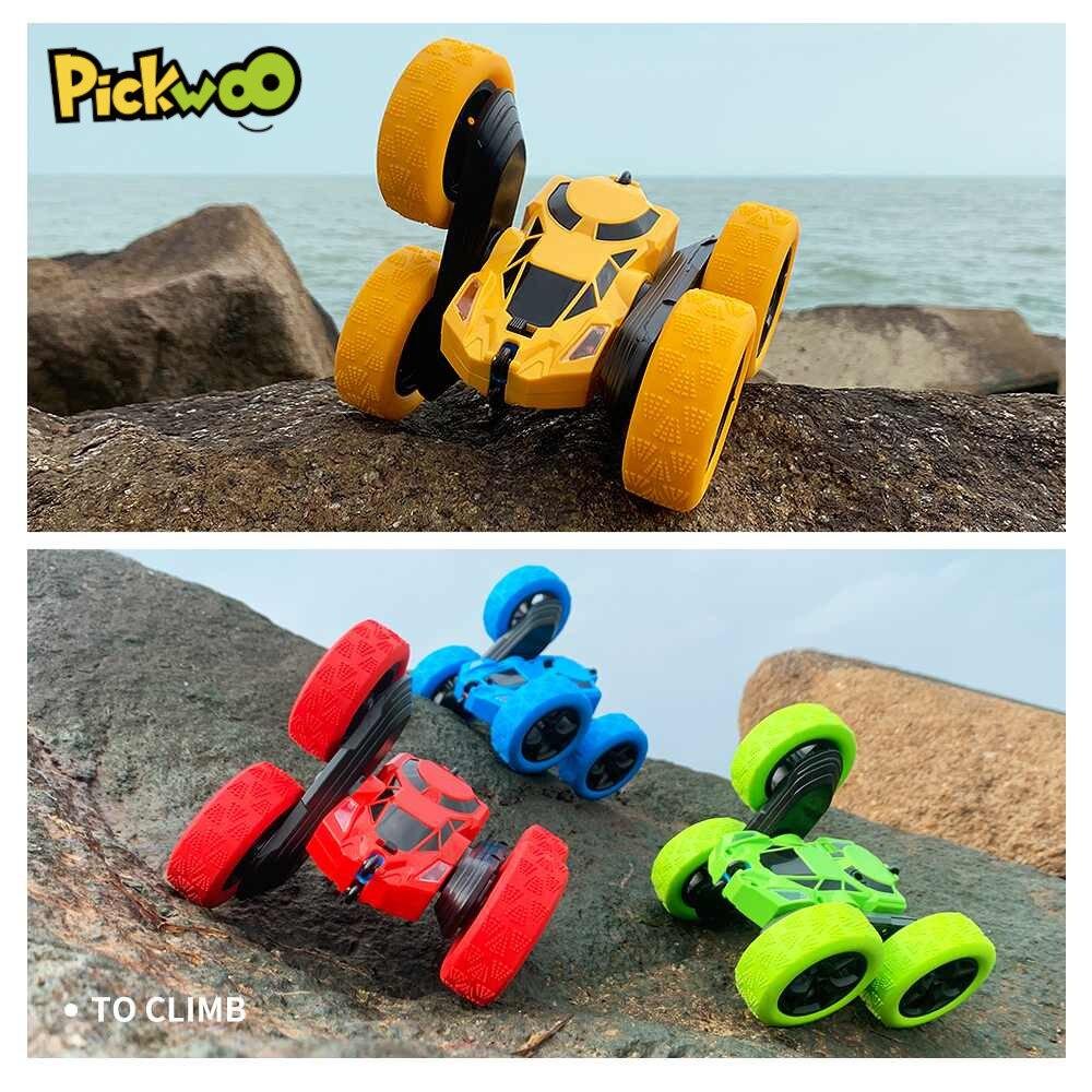 Pickwoo C7 RC автомобиль 2,4 ГГц 4CH 1:16 трюк дрейф деформации радио Управление на гусеничном ходу 360 градусов флип RC автомобиль игрушки с светодиодны...