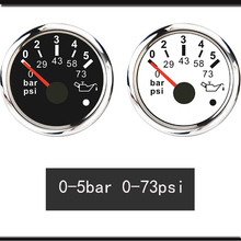 Pressure-Gauge Boat Marine-Oil 0-10-Bar Motorcycle Auto with Alarm Fit-For Car
