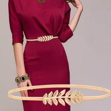 Цветочный Пояс с металлической пряжкой для женщин, женские эластичные поясные цепные ремни, женские тонкие золотые ремни ceinture femme pasek damski