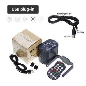 Image 5 - 미니 LED 레이저 무대 조명 크리스마스 조명 DJ 디스코 효과 60 모드 원격 제어 USB 파티 램프 바 파티 장식 쇼