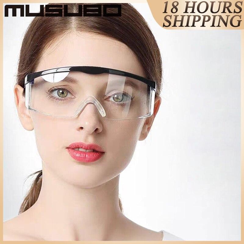 PC Clear Eye Glasses Protection Gafas De Seguridad Laboratorio Veiligheidsbril Safety Goggles Occhiali Protettivi Oogbescherming