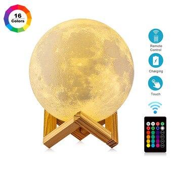 3D lámpara Led con forma De Luna luces De la Noche lámpara...