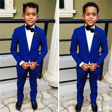 Kid Casual Blazers Suit For Baby Boy Child Coat Fashion Children Jacket   Costume For Boy Blue Graduation Suit H022