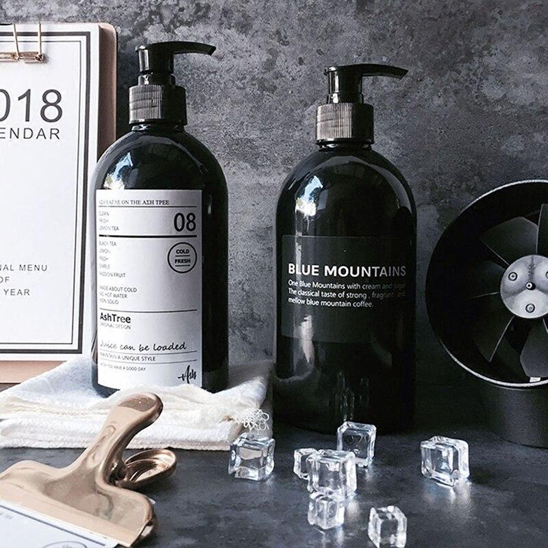 500ML Bath Shampoo Bottle Body Wash Hair Conditioner Dispenser Plastic Storage Bottles Shampoo Bottles Bathroom Supplies