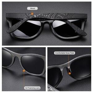 Image 5 - EZREAL gafas de sol polarizadas de madera para hombre y mujer, anteojos de sol de marca de lujo, de diseñador, estilo Vintage, con caja redonda