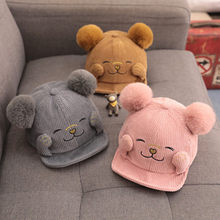 Children's Autumn And Winter Korean Version Of The Cap Baseball Cap Corduroy Baseball Hat 1-3years Old Boys Girls New Arrival(China)