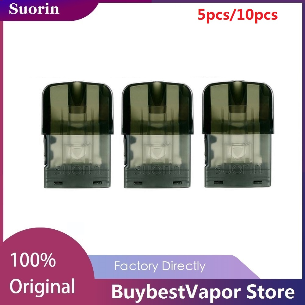 Original 5pcs/10pcs Suorin Edge Pod Cartridge 1.5ml With 1.4ohm Coil & Leakage-proof Design For Suorin Edge Pod Kit Vapoizer