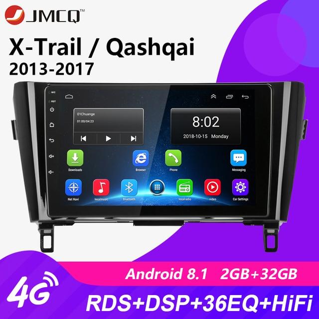 Android 8.1-autoradio multimédia 4G | Lecteur vidéo DVD, Navigation GPS pour Nissan X-Trail XTrail T32 Qashqai J11 T31 J10 2013-2017