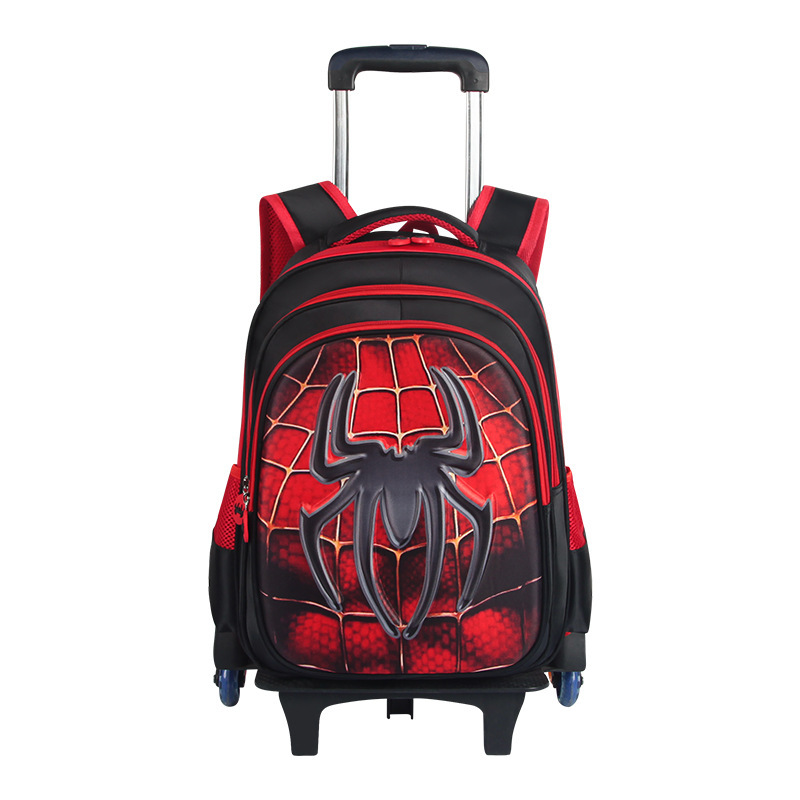 Mochila de viaje para niños en 3D, mochila con ruedas, mochila con ruedas para niños, mochila con ruedas para la escuela - 3