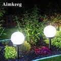 2PCS Led Solar Energy Powered Birne Lampe Wasserdichte Outdoor Garten Ball Licht Rasen Nacht Lichter Led Solar Lampe für urlaub Dekor