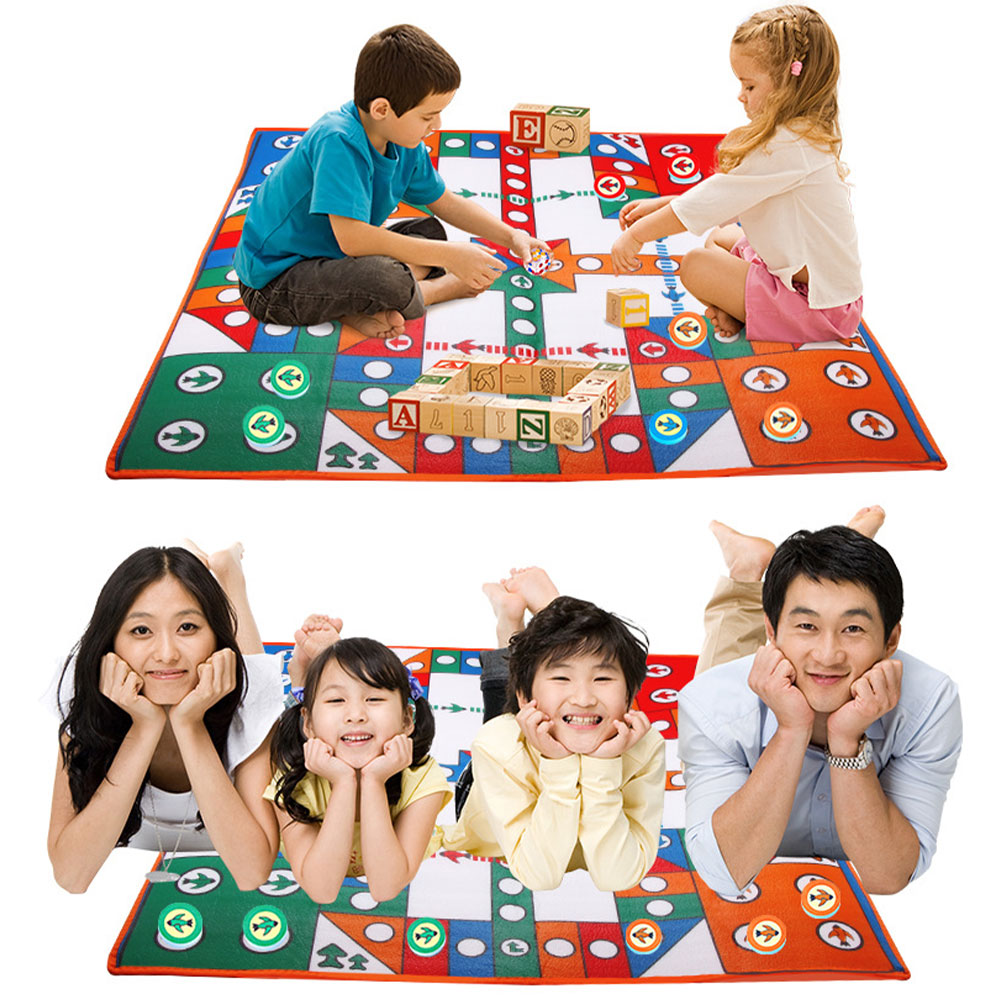 Children Game Carpet Crawling Mat Eva Game Flying Chess Mat Double-Sided Single-Sided Big Rich Strong Hand Million Taxi Aircraft