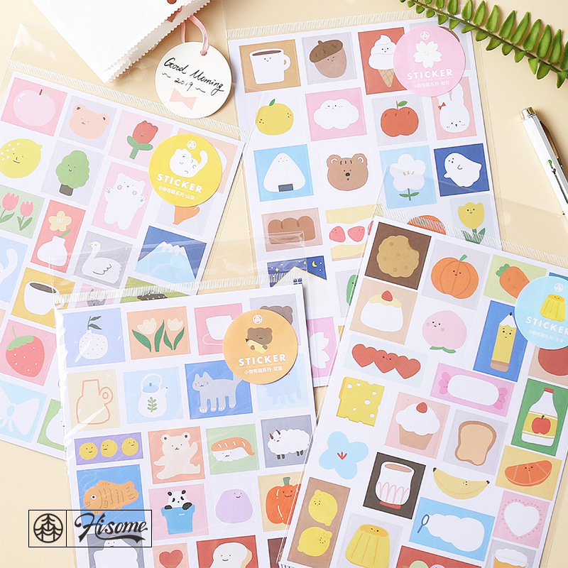 Kawaii Fun Things Series Stickers Cute Stationery Stickers Bullet Journal Paper Sticker Kids DIY Decorations Scrapbooking Diary(China)