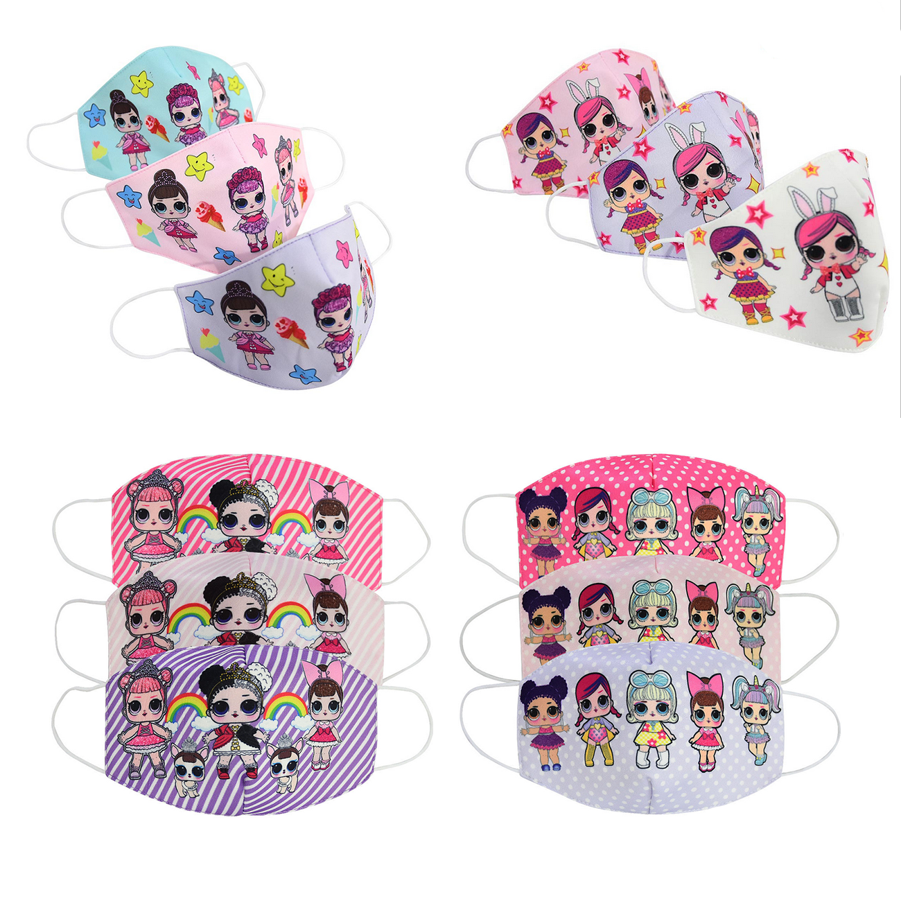 2020 New LOL Surprise Mouth Mask Toys Cartoon Warm Breathable Half Face Dustproof Mask Mouth Cover For Children Kids Girls Boys