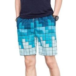 Heflashor/Новинка 2019 года; пляжные короткие брюки; Свободные повседневные пляжные шорты на завязках; летние пляжные шорты с принтом