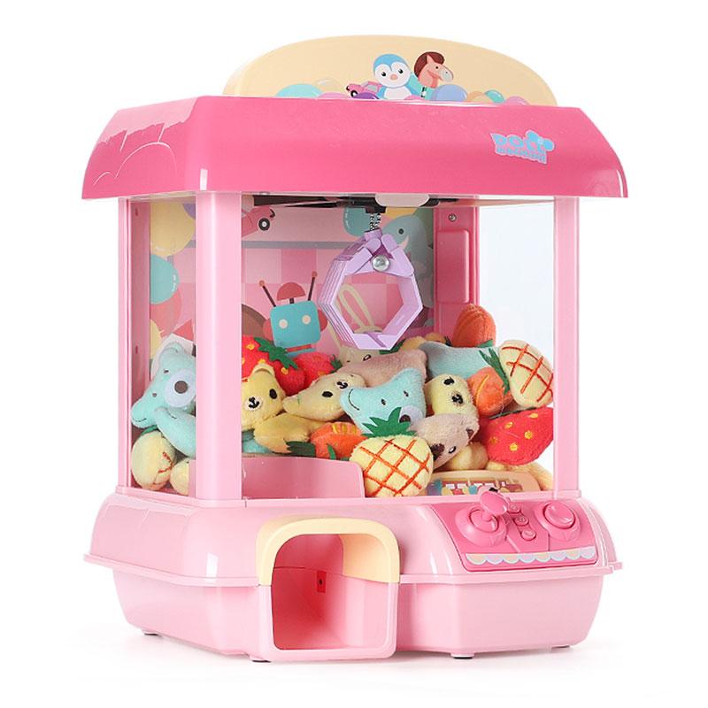 Garra máquina boneca c1 garra modo de brinquedo mini garra sons e luzes grabber doces boneca guindaste clipe máquina melhor presente para crianças brinquedos