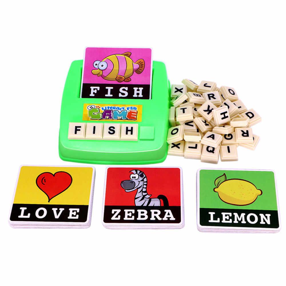 Anglais lettre orthographe jouet jeu apprentissage précoce éducatif enfants Alphabet anglais alphabet jeu de carte enseignement des jouets pour enfants