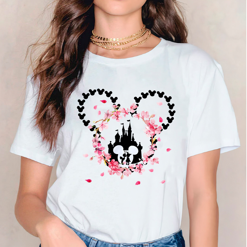 Women 2020 Sweet Love Kiss Cartoon Printed T Shirt Womens Ladies Valentine Graphic Clothes Tshirts Female Tee T-Shirt Clothing