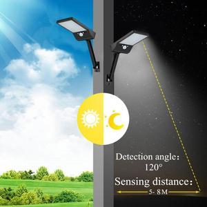 Image 5 - 48 LED Điều Khiển từ xa Đèn Năng Lượng Mặt Trời ĐÈN LED Ngoài Trời Chống Nước CẢM BIẾN Chuyển Động Cảm Biến Năng Lượng Mặt Trời Gắn Tường 1/3 Chế Độ Vườn Phố Năng Lượng Mặt Trời đèn