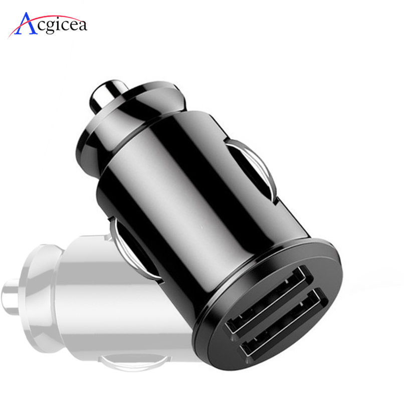 Car Charger For IPhone 7 8 Plus XR XS  IPad Mobile Phone Charger Fast Charging Dual USB Chargers For Samsung S8 A30 A50 Tablets