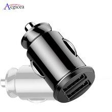 Chargeur de voiture Pour iPhone 7 8 Plus XR XS IPad Chargeur De Téléphone Portable De Charge Rapide Double USB Chargeurs Pour Samsung S8 A30 A50 Comprimés