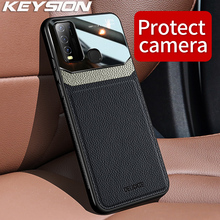 KEYSION Fashion Shockproof Case for VIVO Y50 Y30 Y19 Y17 Y15 Y12 Y3 Leather Lens Glass Phone Back Cover For VIVO Y85 Y97 Y5S Y7S
