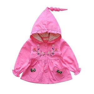 Image 3 - เด็กทารกเด็กวัยหัดเดิน Hoodie Coat ฤดูใบไม้ร่วงฤดูหนาวขนแกะกำมะหยี่ชุดเด็ก Windbreaker Outerwear เสื้อผ้าดอกไม้สำหรับ 2 3 4 5 6 ปี