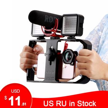 Ulanzi u-rig Pro Smartphone zestaw wideo w 3 uchwytach do butów filmowanie Case ręczny telefon stabilizator kamery uchwyt mocowanie do statywu stojak tanie i dobre opinie