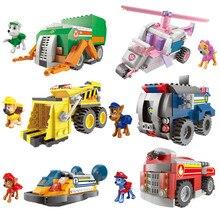 Paw Patrol toys set Building Blocks dog large particles assembled building blocks childrens play car toy paw patrol birthday gi