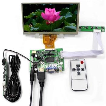 Monitor de pantalla LCD de 6,5 pulgadas, placa controladora AT065TN14 800X480, kit de pantalla táctil capacitiva, HDMI VGA 2AV para Raspberry Pi
