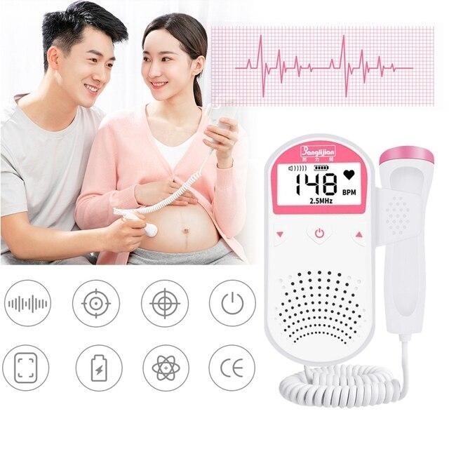 Prenatal Fetal Doppler Handheld Baby Heart Rate Detector Sonar Doppler Heartbeat Monitor For Pregnant Women 4